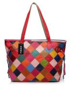 Tibes Plaid Handbag Tote Bag Shoulder Handbag Purse