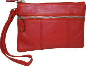 London Stitch Women's Genuine Leather Wristlet Clutch Organiser Pouch