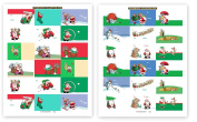 72 Golf Theme Gift Tag Stickers For Presents - Golf Assorted Christmas Stickers