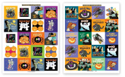 80 Halloween Stickers - Fun Assorted of Funny Halloween Stickers