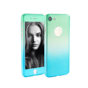 iPhone 7 Case, GreenElec [Ultra-thin] Gradient 360 degree Full Body Coverage Protective Hard Slim Case With [Shockproof] [Tempered Glass Screen Protector] for Apple iPhone 7