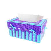 Btibpse 3d Cross Stitch Kits Simple Embroidery Tissue Box Needlecrafts for Beginners / Kids / Girls / Women