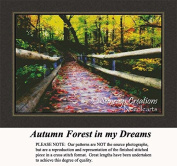 Autumn Forest in my Dreams, Landscape Counted Cross Stitch Pattern