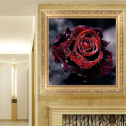 MEXUD-5D DIY Stitch Craft Craft with Red Rose Flower Embroidery Diamond Painting for Home Decor
