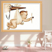 LAY'S 5D Diamond Painting Baby Child Pattern Embroidery Kit Cross Stitch Crafts Wall Room Decor