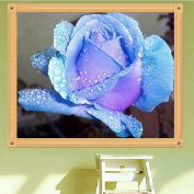 LAY'S 5D Diamond Painting Blue Rose 30x35cm Embroidery Cross Stitch Crafts Kit Home Wall Decoration