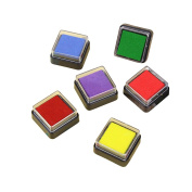 Hysagtek Set of 6 Colourful Craft Ink Pad Inkpads For Paper Fabric Wood Rubber Stamps
