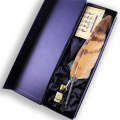 Featty - Antique Owl Feather Metal Nibbed Pen Writing Quill Dip Pen Gift