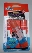 Elmers Washable Disappearing Purple School Glue Sticks 3 Plus Bonus Clear Stick