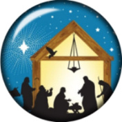 Snap button Nativity Merry Christmas 18mm Cabochon chunk charm