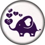 Snap button Elephant Heart bubbles 18mm Cabochon chunk charm