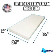 FOAMMA Medium Density Upholstery Foam Cushion (Seat Replacement , Upholstery Sheet , Foam Padding) Fast! Made in USA!!