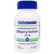Life Extension Bilberry Extract 90 V-Capsules, 100 mg, 90 Count