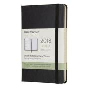 Moleskine 12 Month Weekly Planner, Pocket, Black, Hard Cover