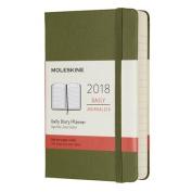 Moleskine 12 Month Daily Planner, Pocket, ELM Green, Hard Cover