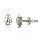 Marquise Shaped Diamond Earrings 10K Gold 1/10 ct tw