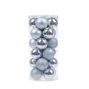 Leegoal(TM) 24pcs Christmas Tree Balls Baubles Ornament Pendant for Xmas Festival Party Garden Decorations,4cm,Silver