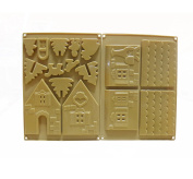 Astra shop 2pcs Silicone Gingerbread and Chocolate House Mould Candy Mould Christmas Cookies Mould