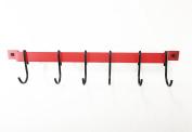 Rogar 46cm Red Utensil Bar Rack