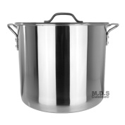 Stock Pot Stainless Steel 37.9l Lid Steamer Brew Vaporera Kettle Tamales New 10Ga
