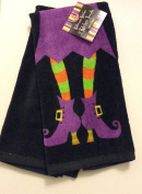 Halloween Witch's Legs Kitchen Towel Set of 2