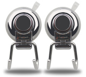 YutaoZ 2 PACK Powerful Suction Cup Hooks - Strong Stainless Steel Hooks for Bathroom & Kitchen