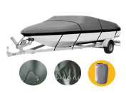 Waterproof Heavy Duty 600D 17ft to19ft Premium Boat Cover Trailer Fishing Ski Covers XBT2H
