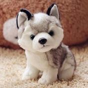 Cute 18cm Genuine Kawaii Simulation Husky Plush Toys Cute Soft Animal Dog Toys Doll Creative Gift for kids Birthday Gift