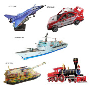 Set of 5 Lovely Cute 3D Traffic Tools Jigsaw Puzzle Children Jigsaw Toys