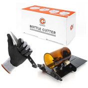 Glass Bottle Cutter Etcher Cut Resistant Gloves Kit, Genround Bottle Cutter Machine Wine Bottle Glass Cutter Cutting Tool and Level 5 Protection Safety Gloves for Hand protection