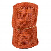 Orange Burlap Craft Ribbon Roll 14cm X 4.6m