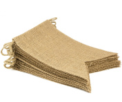 Biowow Creative Triangle Flag DIY Burlap Bunting Banner for Wedding Party