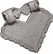 Vintage Crochet PATTERN to make - Thread Crochet Infant Baby Bib Fancy. NOT a finished item. This is a pattern and/or instructions to make the item only.
