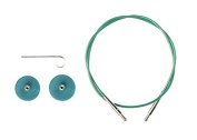 Options Interchangeable Circular Knitting Needle Cables - Green Cables -100cm