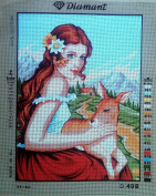 LADY WITH A FAWN NEEDLEPOINT CANVAS