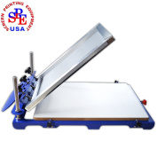 New Type 1 Colour 1 Station Screen Printing Press Screen Printer Machine Screen Press Micro Adjust 20x24 Pallet
