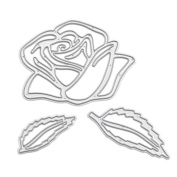 We-buys Rose Cutting Dies Stencil Metal Template for DIY Paper Card Album