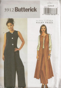 Butterick B3912, Misses' Coat and Pants, Size 14-18, OOP