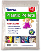 Plastic Poly Pellets in Resealable Bag (4.5kg) for Weighted Blankets, Dolls/Toys, Lap Pads, Cornhole Bags, Bean Bags, I-Spy Bags, Rock Tumbler, Rifle Bags, Non Toxic, Machine Washable Craft Pellets