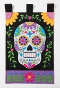 Bucilla Felt Applique Wall Hanging Kit, Sugar Skull, 86690 Size 38cm by 60cm