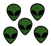 10 pcs Alien Patches Embroidered Iron on Badge Applique for Clothes Stickers
