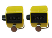 Jackie Pack of 2 Handheld 4 Digit Number Counter Mechanical Tally Lap Tracker Manual Clicker