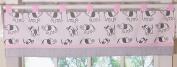 GEENNY One Window Valance, Pink Grey Elephant