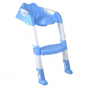 Bhbuy Toilet Training Seat Potty Chair Toddler Potty Trainer Folding Adjustable Kids Step Stool
