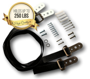 Iron Furniture Anchor Straps - Holds Up To 100kg p/ Pair - Simple Set Up & Keeps Your Loved Ones Safe