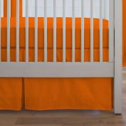 Carousel Designs Solid Orange Crib Skirt Box Pleat 36cm Length