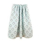 Organic Dream Baby Muslin Swaddle Blanket - Oversized 120cm x 120cm - 8 Layers' Ultra Soft - With a Flower Bib Bonus
