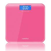 Hippih Digital Body Weight Bathroom Scale with Easy-to-Read Measures Weight 400lb/180kg AAA Glass Square 007