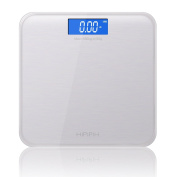 Hippih Digital Body Weight Bathroom Scale with 180kg Weight Capacity Measures Weight Easy-to-Read Back light LCD Glass AAA 009
