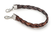 Twisted Leather Medical ID Interchangeable Replacement Bracelet - Brown (XXL